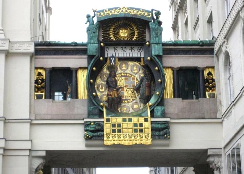 Городские часы в Вене
