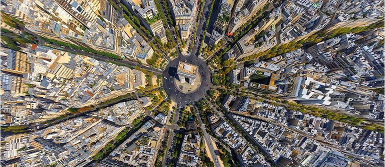Аэропанормама Парижа