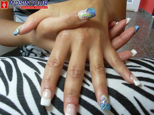Френч ногтей разных цветов 181