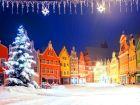 Рождественская ночь в немецком городе Мюнхен