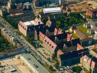 Дворец правосудия в Нюрнберге (Nuremberg Aerial Justizpalast).