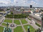 Вид на Старый музей, расположенный на Музейном острове в Берлине