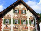 Средневековый дом Обераммергау в Баварии