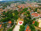 Панорама города Гимарайнш (Португалия)